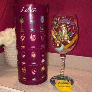 Lolita 'Social Butterfly' Wine Glass